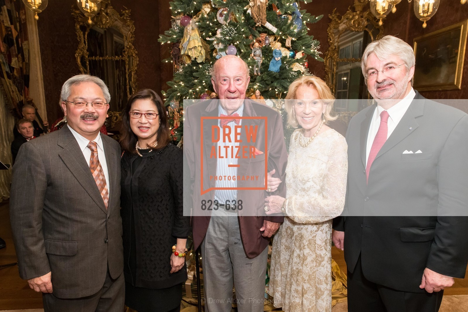 Ed Lee, Anita Lee, George Shultz, Charlotte Shultz, George Schmit, San Francisco Mayor's Office of Protocol Christmas Party, Private Residence, December 9th, 2015,Drew Altizer, Drew Altizer Photography, full-service agency, private events, San Francisco photographer, photographer california