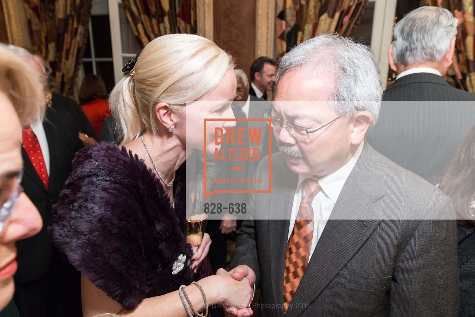 Nathalie Delrue-McGuire, Ed Lee, San Francisco Mayor's Office of Protocol Christmas Party, Private Residence, December 9th, 2015,Drew Altizer, Drew Altizer Photography, full-service agency, private events, San Francisco photographer, photographer california