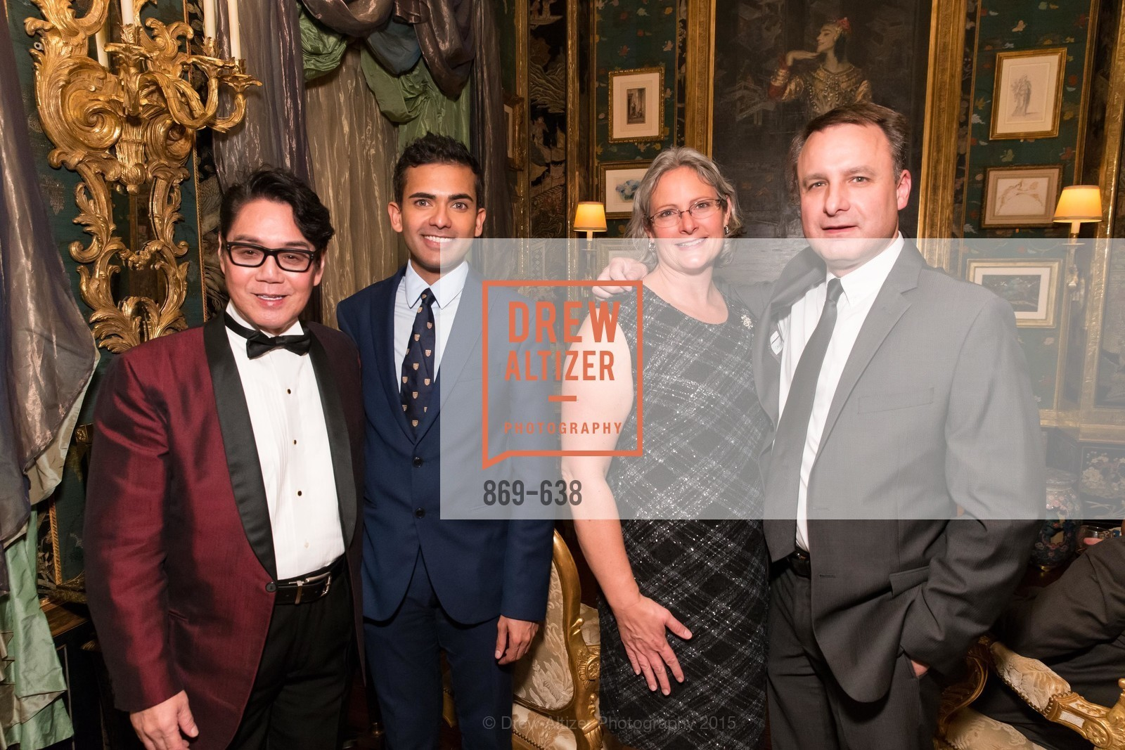Lawrence Wong, Ken Coehlo, Andrea Foley, Jonathan Foley, San Francisco Mayor's Office of Protocol Christmas Party, Private Residence, December 9th, 2015
