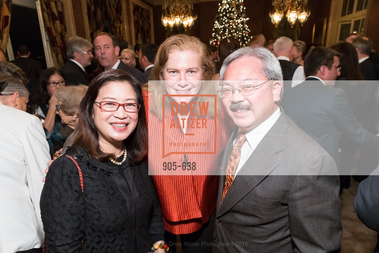 Anita Lee, Joanne Hayes-White, Ed Lee, San Francisco Mayor's Office of Protocol Christmas Party, Private Residence, December 9th, 2015,Drew Altizer, Drew Altizer Photography, full-service agency, private events, San Francisco photographer, photographer california