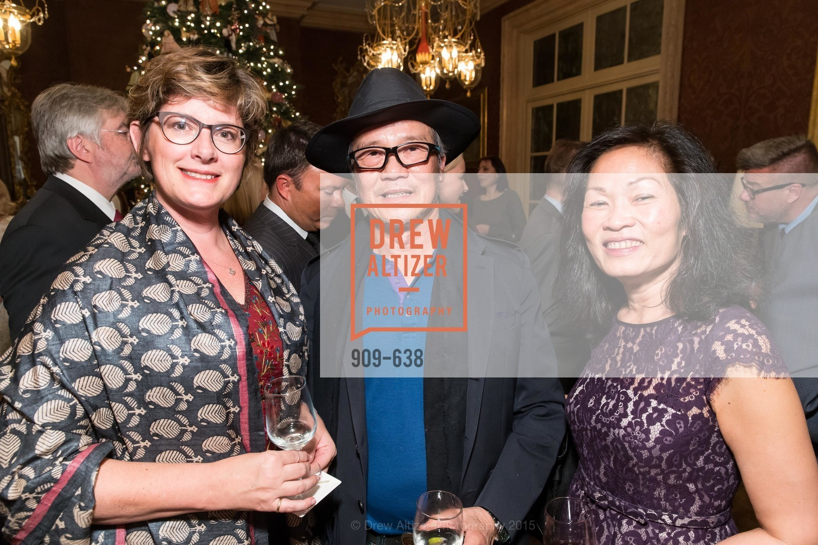 Djoeke Adimi, Tad Nguyen, Kim Nguyen, San Francisco Mayor's Office of Protocol Christmas Party, Private Residence, December 9th, 2015,Drew Altizer, Drew Altizer Photography, full-service agency, private events, San Francisco photographer, photographer california