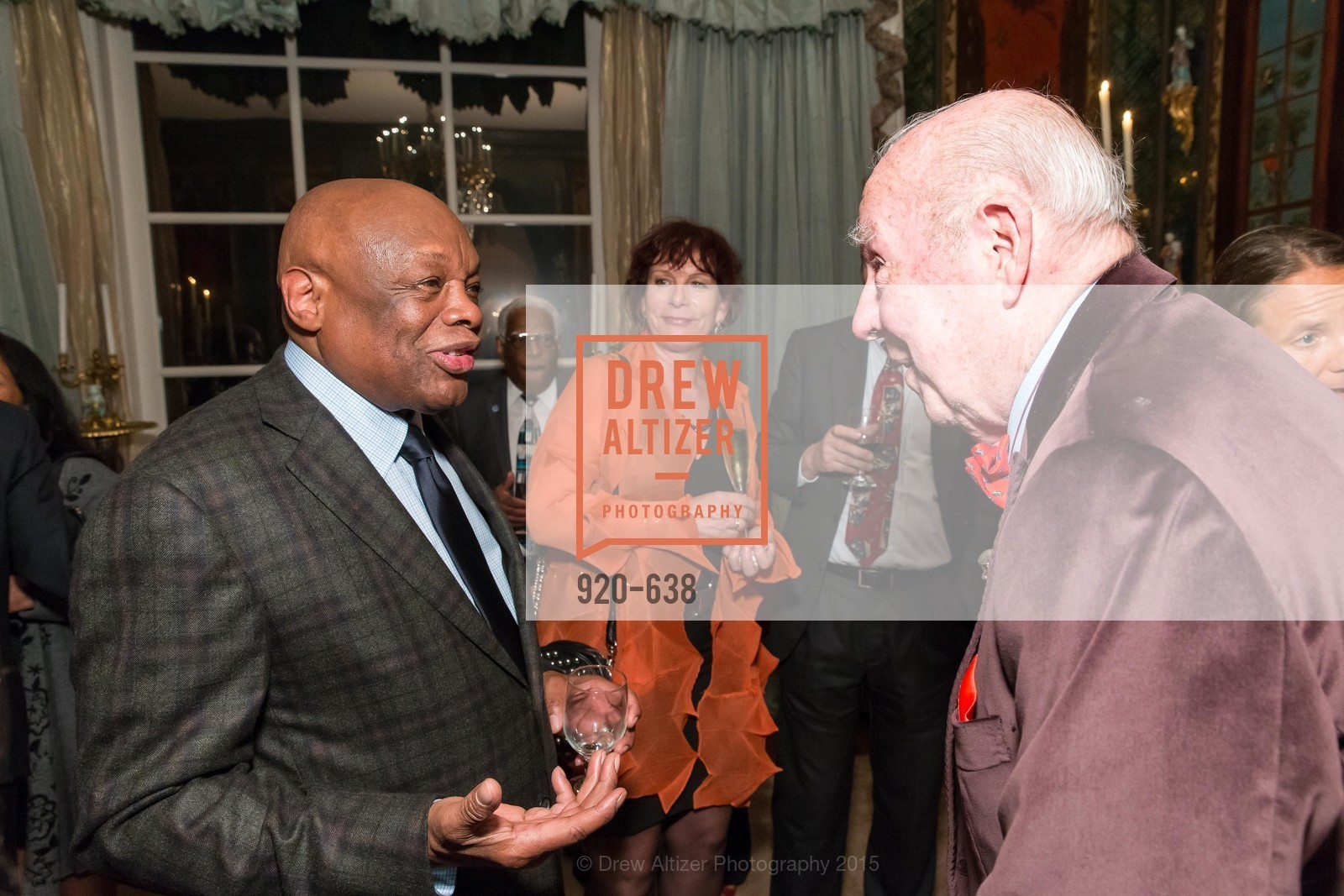 Willie Brown, George Shultz, San Francisco Mayor's Office of Protocol Christmas Party, Private Residence, December 9th, 2015,Drew Altizer, Drew Altizer Photography, full-service agency, private events, San Francisco photographer, photographer california