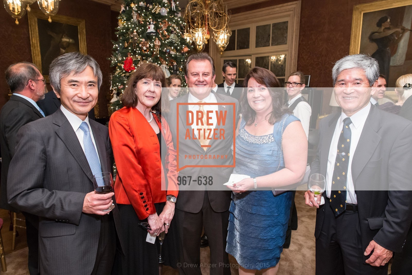 Jun Yamada, Kathleen Kimura, Louis Bella, Lillian Bella, Kozo Kimura, San Francisco Mayor's Office of Protocol Christmas Party, Private Residence, December 9th, 2015,Drew Altizer, Drew Altizer Photography, full-service event agency, private events, San Francisco photographer, photographer California