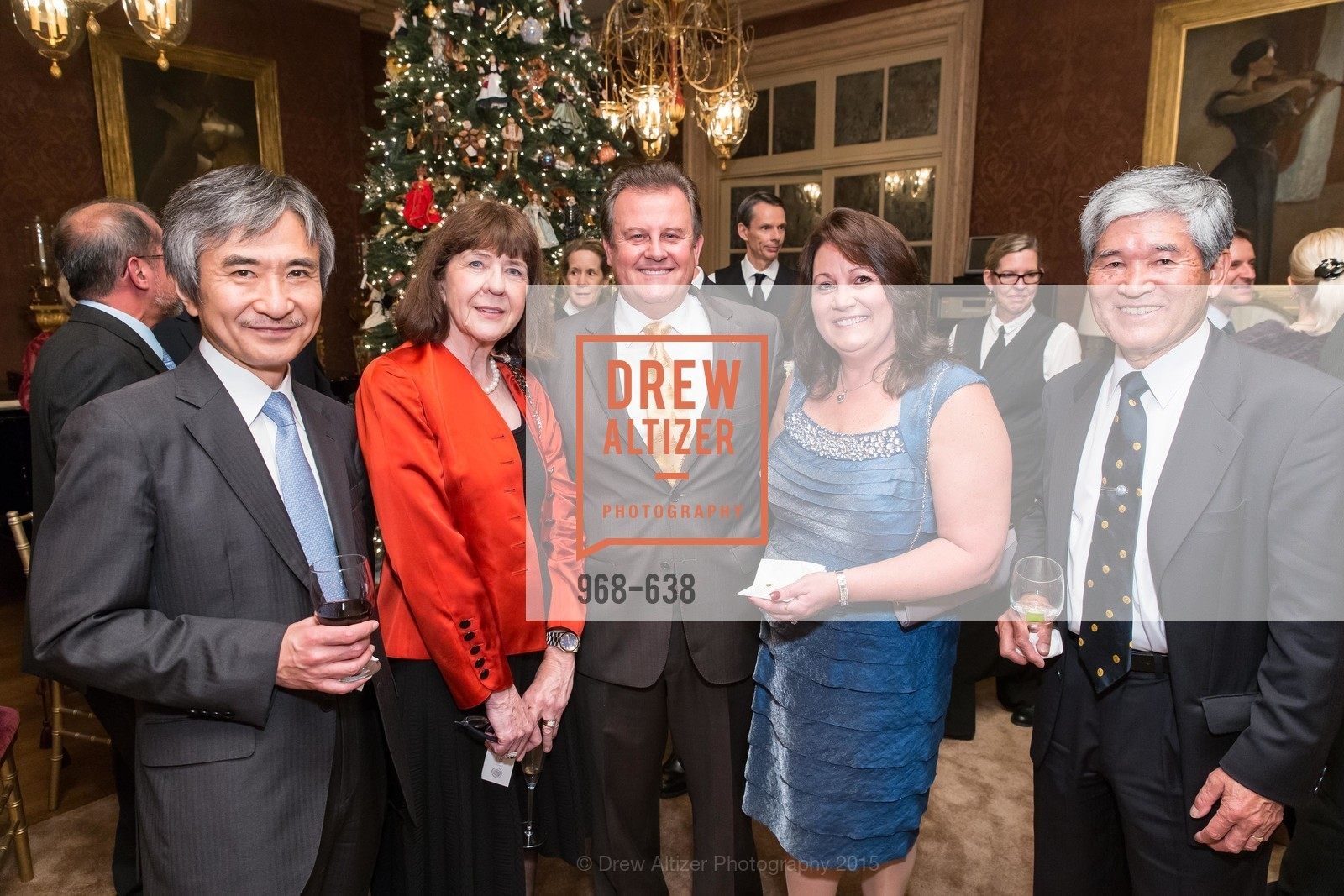 Jun Yamada, Kathleen Kimura, Louis Bella, Lillian Bella, Kozo Kimura, San Francisco Mayor's Office of Protocol Christmas Party, Private Residence, December 9th, 2015,Drew Altizer, Drew Altizer Photography, full-service agency, private events, San Francisco photographer, photographer california