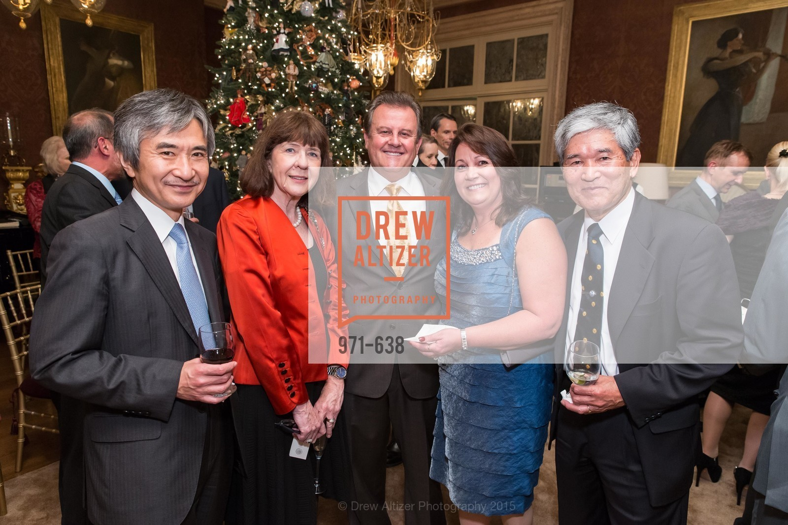 Jun Yamada, Kathleen Kimura, Louis Bella, Lillian Bella, Kodo Kimura, San Francisco Mayor's Office of Protocol Christmas Party, Private Residence, December 9th, 2015,Drew Altizer, Drew Altizer Photography, full-service agency, private events, San Francisco photographer, photographer california