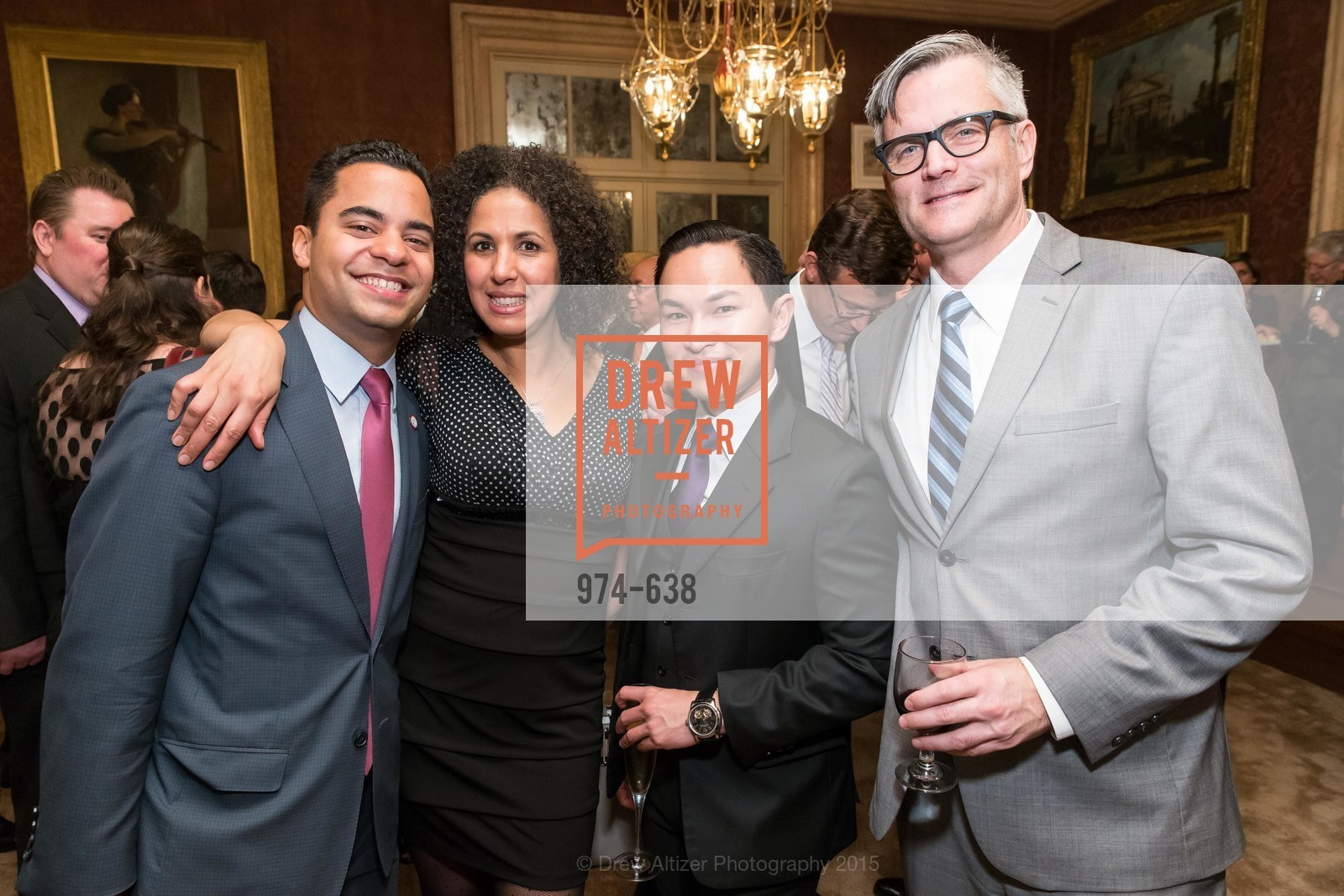 Alex Randolph, Bouchra Simmons, Trevor Nguyen, Sam Adams, San Francisco Mayor's Office of Protocol Christmas Party, Private Residence, December 9th, 2015,Drew Altizer, Drew Altizer Photography, full-service agency, private events, San Francisco photographer, photographer california