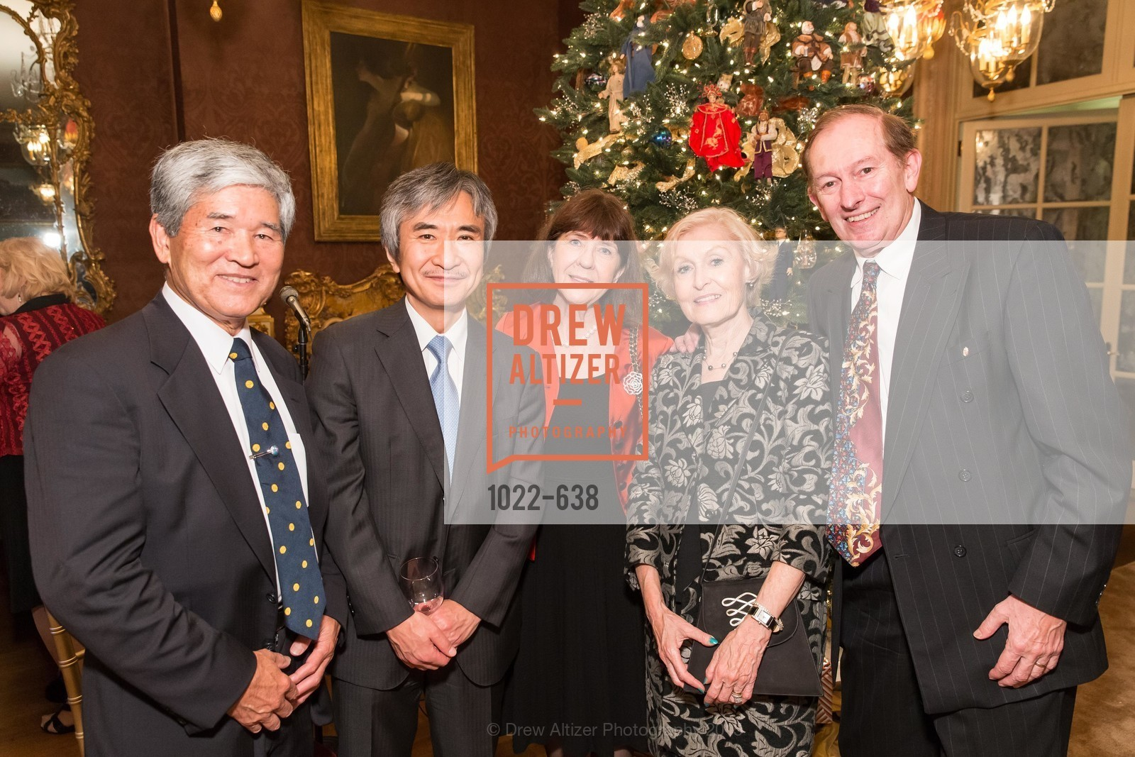 Kozo Kimura, Kathleen Kimura, Eva Voisin, Paul Voisin, San Francisco Mayor's Office of Protocol Christmas Party, Private Residence, December 9th, 2015,Drew Altizer, Drew Altizer Photography, full-service agency, private events, San Francisco photographer, photographer california