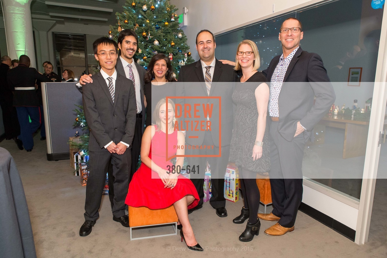 Stanley Seato, Estevan Aguayo, Mylea Charvat, Anna Bellinghausen, Devin Seto, Meredith McNeill, Eric Mason, Savonix Launch Celebration and Toys for Tots Benefit, Savonix. 300 Broadway, Suite 14, December 10th, 2015,Drew Altizer, Drew Altizer Photography, full-service agency, private events, San Francisco photographer, photographer california