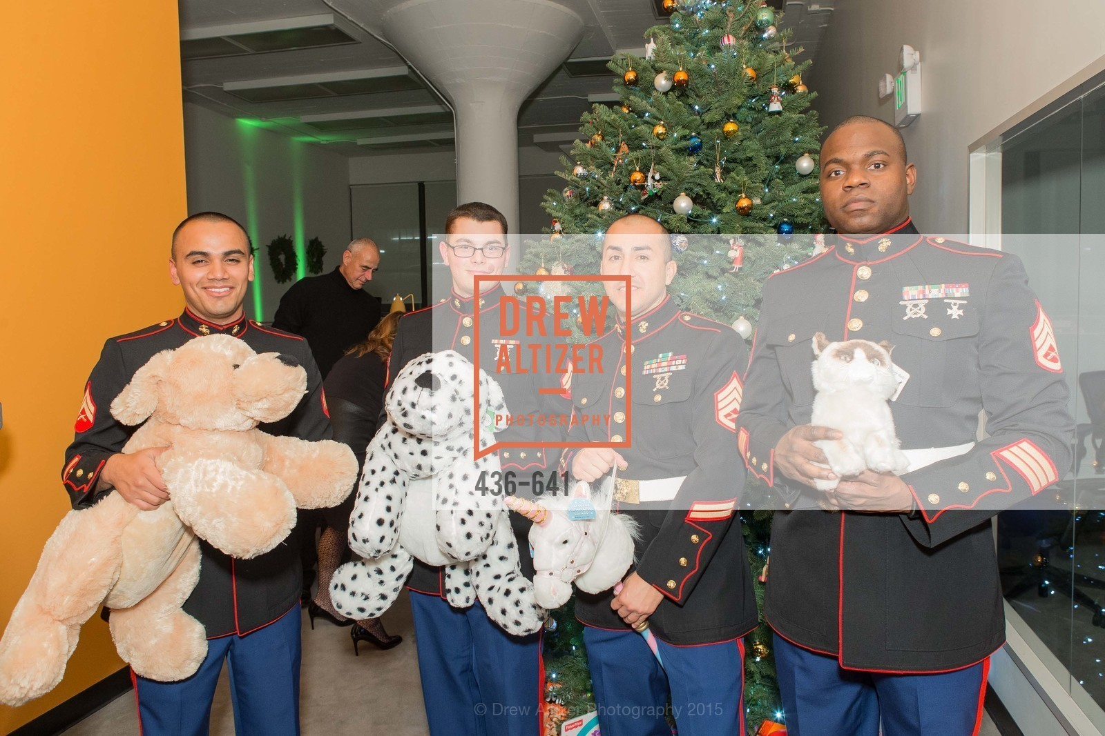 Arturo Gutierrez, Alex Olson, Joseph Ortiz, Fredrick Worley, Savonix Launch Celebration and Toys for Tots Benefit, Savonix. 300 Broadway, Suite 14, December 10th, 2015,Drew Altizer, Drew Altizer Photography, full-service agency, private events, San Francisco photographer, photographer california