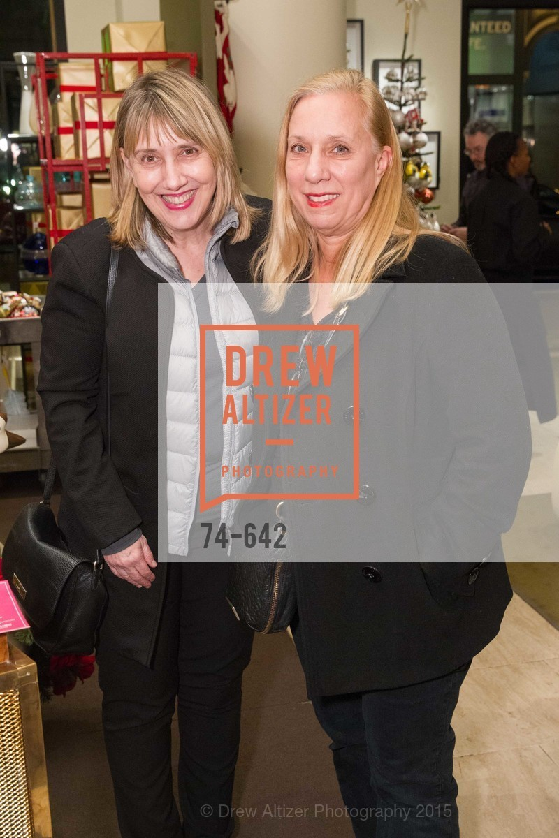 Clara Taylor, Pam Donahue, Private Holiday Shopping Night presented by Gump's and Domino magazine, Gump's. 135 Post Street, December 10th, 2015,Drew Altizer, Drew Altizer Photography, full-service agency, private events, San Francisco photographer, photographer california