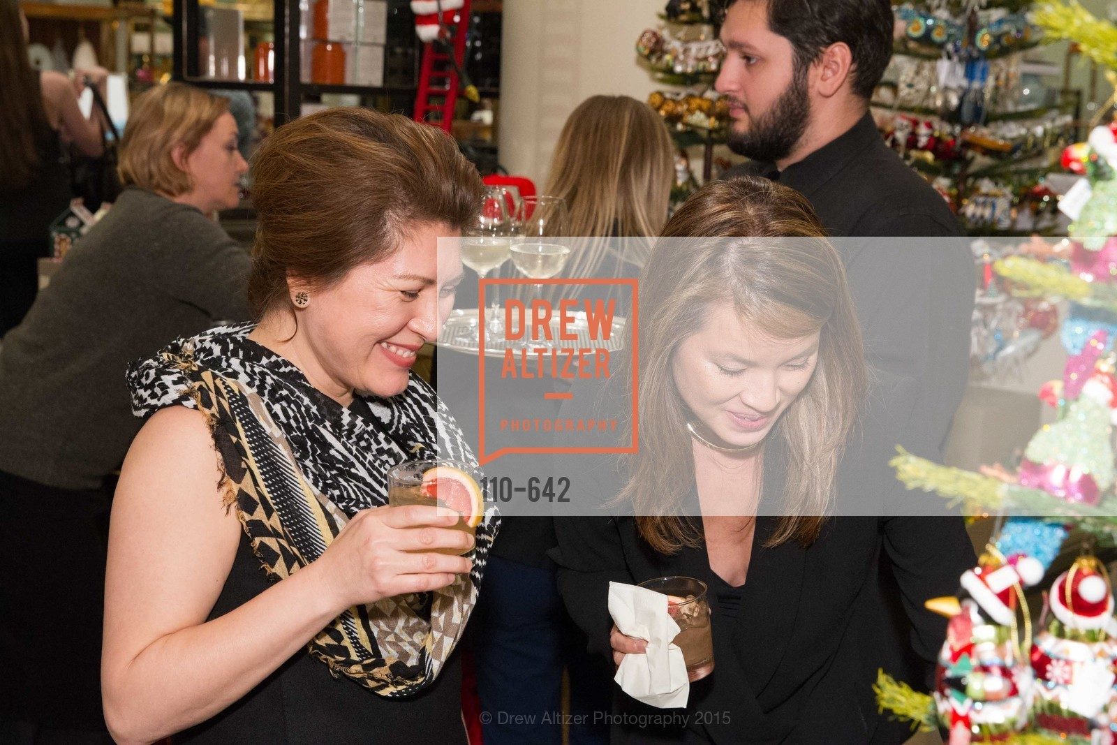 Marybelle Mora, Sandy Young, Private Holiday Shopping Night presented by Gump's and Domino magazine, Gump's. 135 Post Street, December 10th, 2015,Drew Altizer, Drew Altizer Photography, full-service agency, private events, San Francisco photographer, photographer california