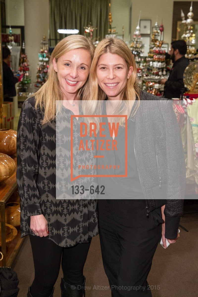 Kristin Kelly, Jessica Romm, Private Holiday Shopping Night presented by Gump's and Domino magazine, Gump's. 135 Post Street, December 10th, 2015,Drew Altizer, Drew Altizer Photography, full-service agency, private events, San Francisco photographer, photographer california