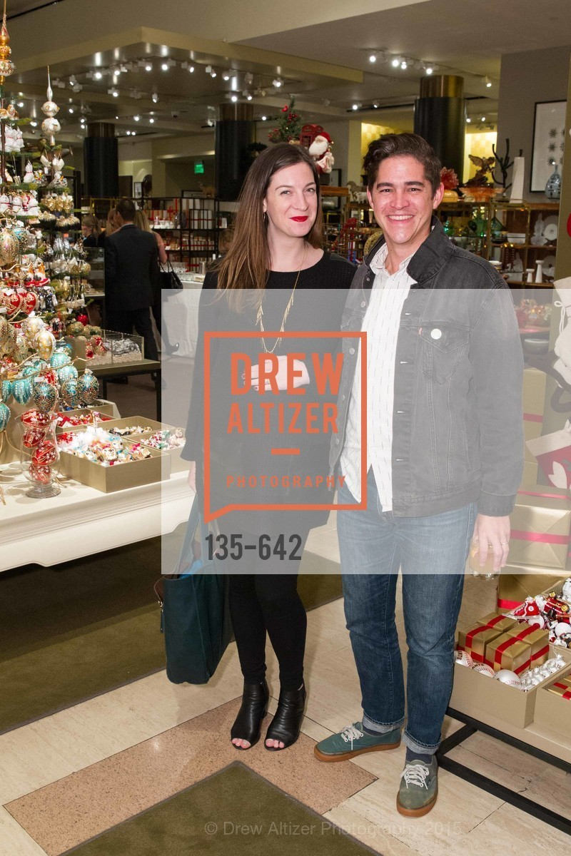 Alexandra Ohearn, Matthew OHearn, Private Holiday Shopping Night presented by Gump's and Domino magazine, Gump's. 135 Post Street, December 10th, 2015,Drew Altizer, Drew Altizer Photography, full-service agency, private events, San Francisco photographer, photographer california
