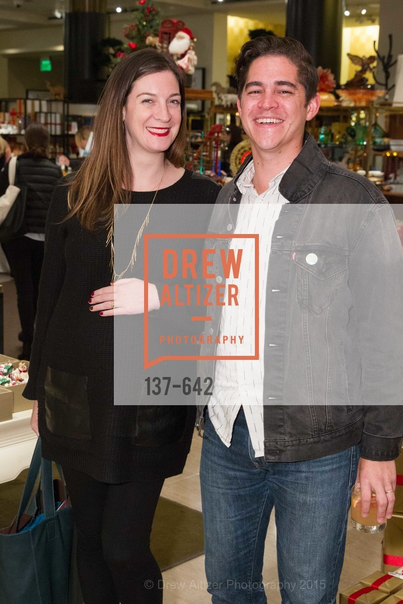 Alexandra Ohearn, Matthew OHearn, Private Holiday Shopping Night presented by Gump's and Domino magazine, Gump's. 135 Post Street, December 10th, 2015,Drew Altizer, Drew Altizer Photography, full-service event agency, private events, San Francisco photographer, photographer California