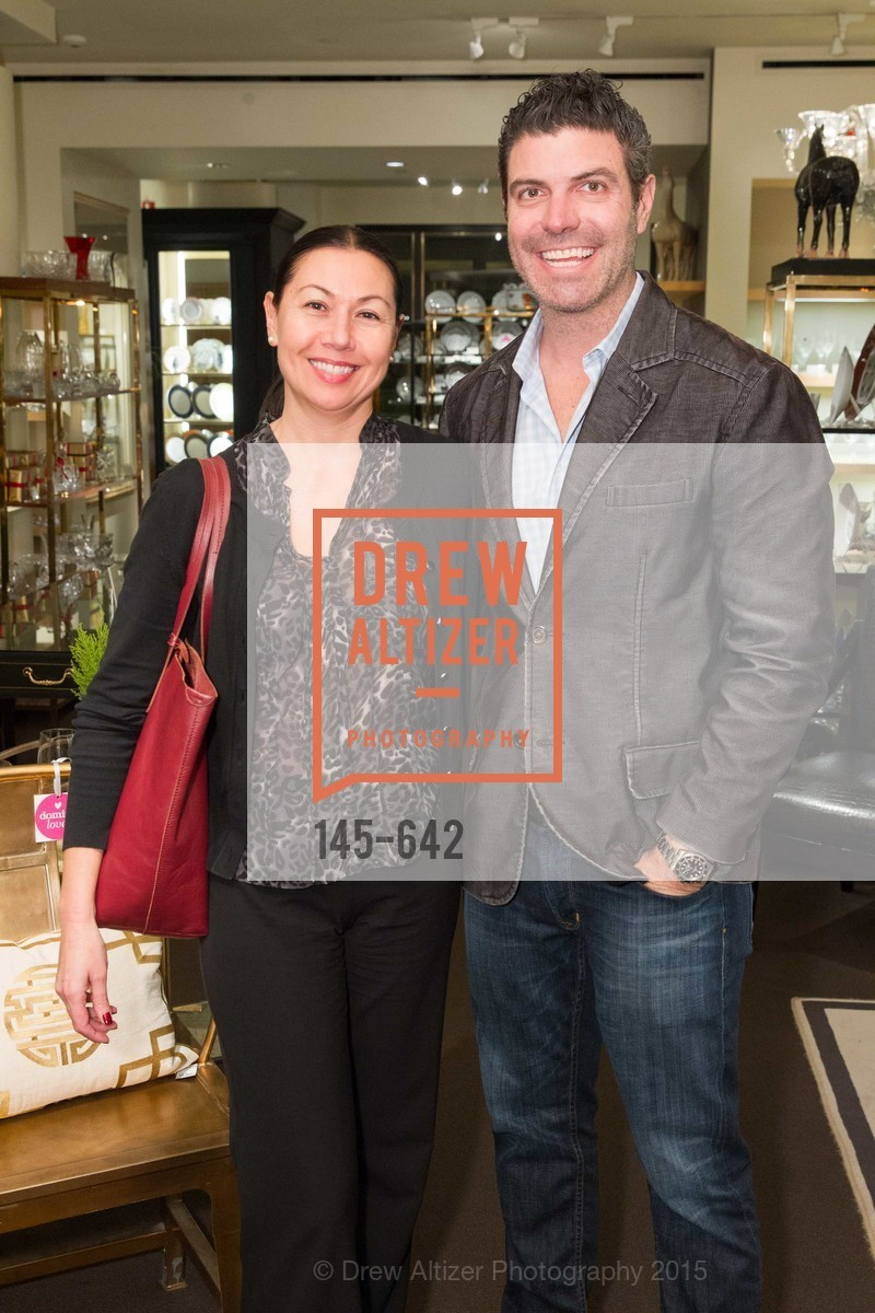 Kim Geddings, Rich Geddings, Private Holiday Shopping Night presented by Gump's and Domino magazine, Gump's. 135 Post Street, December 10th, 2015,Drew Altizer, Drew Altizer Photography, full-service agency, private events, San Francisco photographer, photographer california