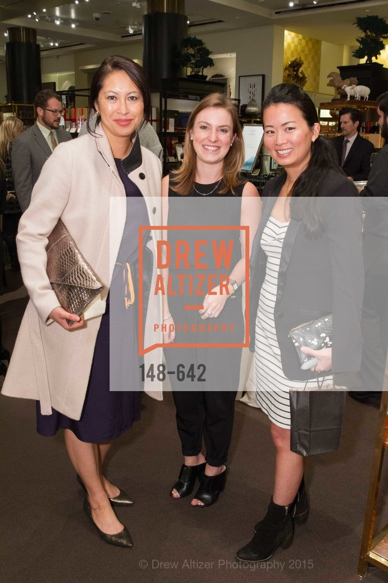 Joyce Lee, Katarina Cutter, Kat Seto, Private Holiday Shopping Night presented by Gump's and Domino magazine, Gump's. 135 Post Street, December 10th, 2015,Drew Altizer, Drew Altizer Photography, full-service agency, private events, San Francisco photographer, photographer california
