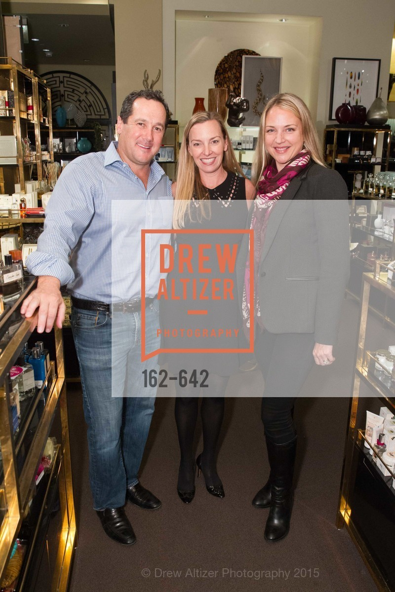Richard Toohey, Megan Toohey, Alexa Gulliford, Private Holiday Shopping Night presented by Gump's and Domino magazine, Gump's. 135 Post Street, December 10th, 2015,Drew Altizer, Drew Altizer Photography, full-service agency, private events, San Francisco photographer, photographer california
