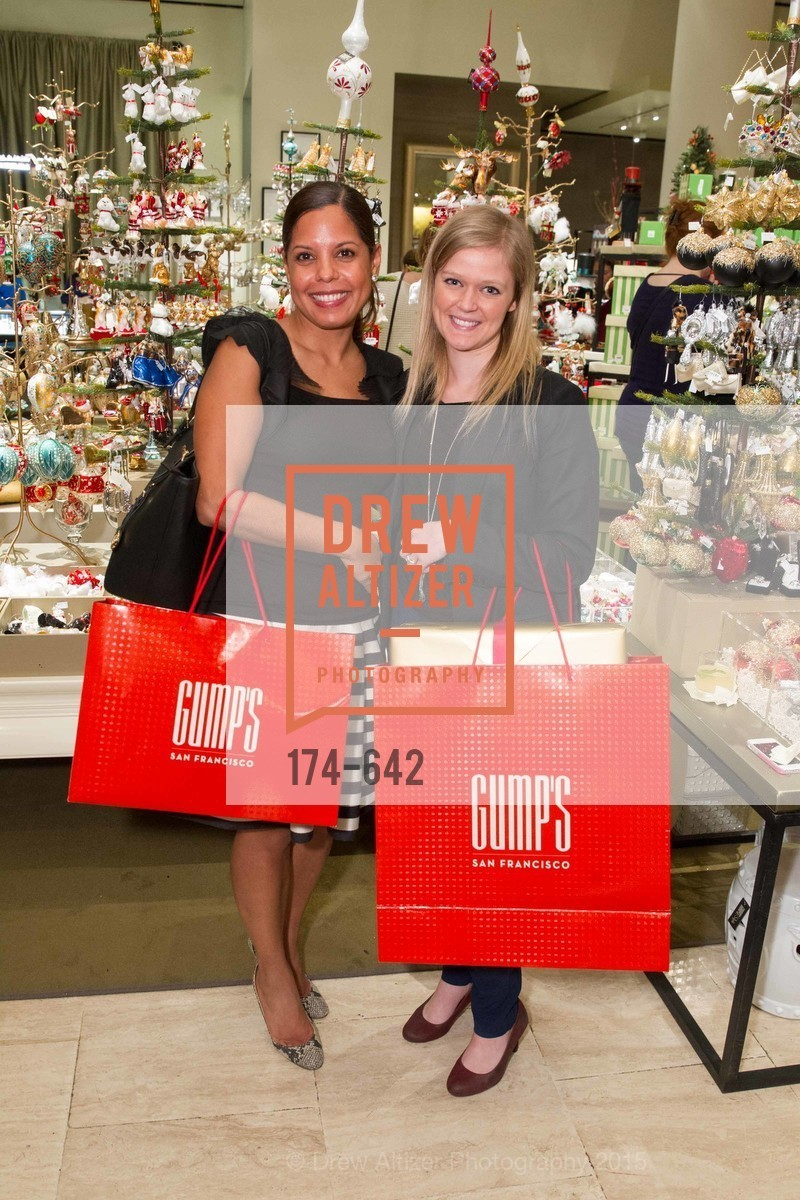 Giovanna Bocock, Jessica Brown, Private Holiday Shopping Night presented by Gump's and Domino magazine, Gump's. 135 Post Street, December 10th, 2015,Drew Altizer, Drew Altizer Photography, full-service agency, private events, San Francisco photographer, photographer california