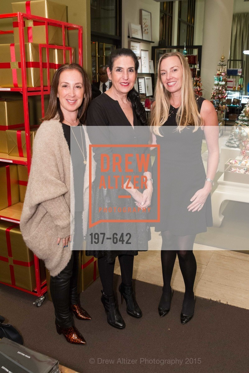 Beth Brenner, Claudia Hollingsworth, Megan Toohey, Private Holiday Shopping Night presented by Gump's and Domino magazine, Gump's. 135 Post Street, December 10th, 2015,Drew Altizer, Drew Altizer Photography, full-service agency, private events, San Francisco photographer, photographer california