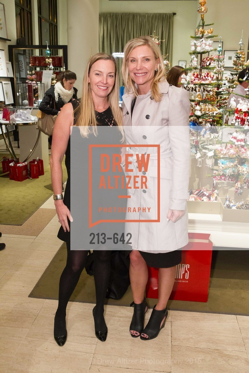 Megan Toohey, Jill Burns, Private Holiday Shopping Night presented by Gump's and Domino magazine, Gump's. 135 Post Street, December 10th, 2015