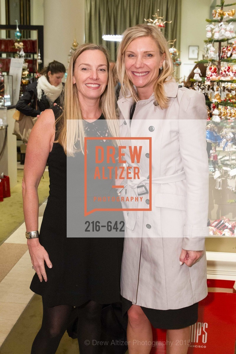 Megan Toohey, Jill Burns, Private Holiday Shopping Night presented by Gump's and Domino magazine, Gump's. 135 Post Street, December 10th, 2015,Drew Altizer, Drew Altizer Photography, full-service agency, private events, San Francisco photographer, photographer california