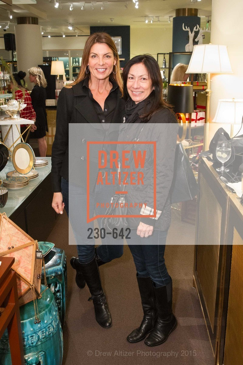 Terry Williams, Anne Sullivan, Private Holiday Shopping Night presented by Gump's and Domino magazine, Gump's. 135 Post Street, December 10th, 2015,Drew Altizer, Drew Altizer Photography, full-service agency, private events, San Francisco photographer, photographer california