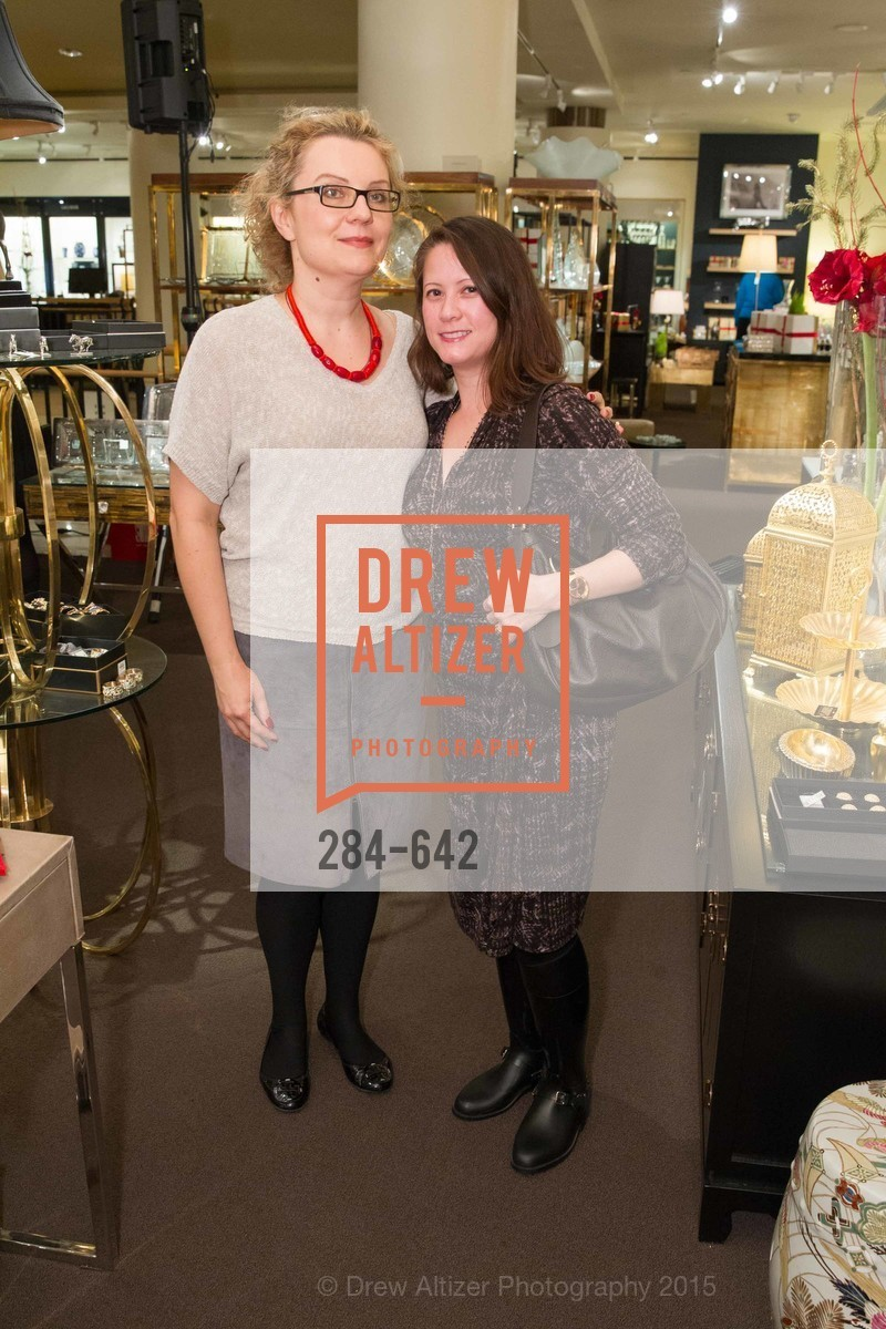 Lisa Krasovska, Ariel Wyatt, Private Holiday Shopping Night presented by Gump's and Domino magazine, Gump's. 135 Post Street, December 10th, 2015,Drew Altizer, Drew Altizer Photography, full-service event agency, private events, San Francisco photographer, photographer California