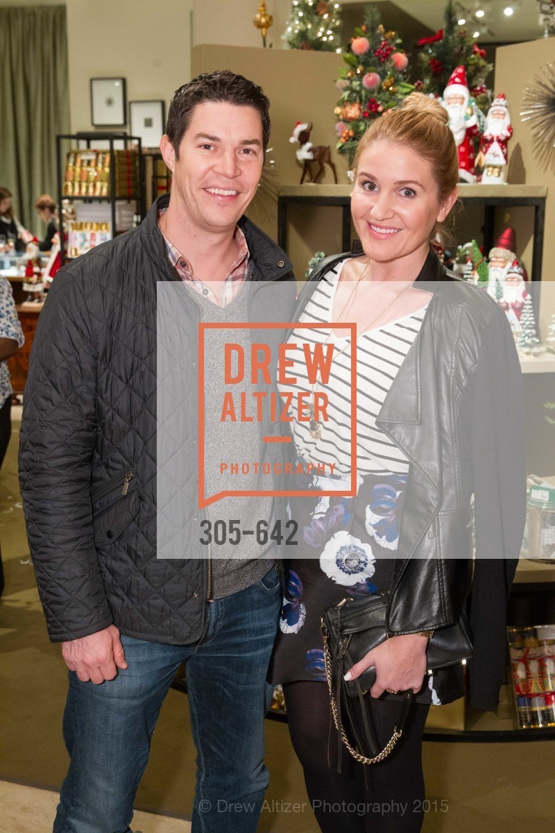 Brad Collier, Julia Goodwin, Private Holiday Shopping Night presented by Gump's and Domino magazine, Gump's. 135 Post Street, December 10th, 2015,Drew Altizer, Drew Altizer Photography, full-service agency, private events, San Francisco photographer, photographer california