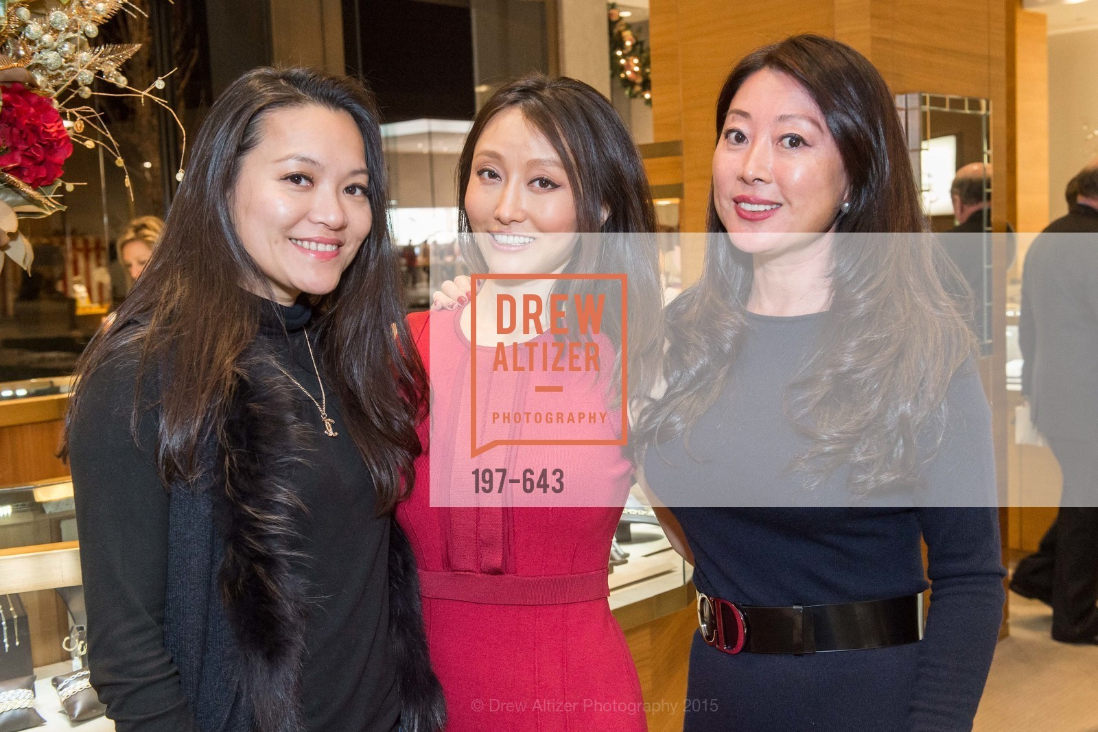 Jing Huang, Cindy Bi, Jennifer Conley, Shreve & Co & Holiday Event, Shreve & Co. 329 Stanford Shopping Center, December 10th, 2015,Drew Altizer, Drew Altizer Photography, full-service agency, private events, San Francisco photographer, photographer california