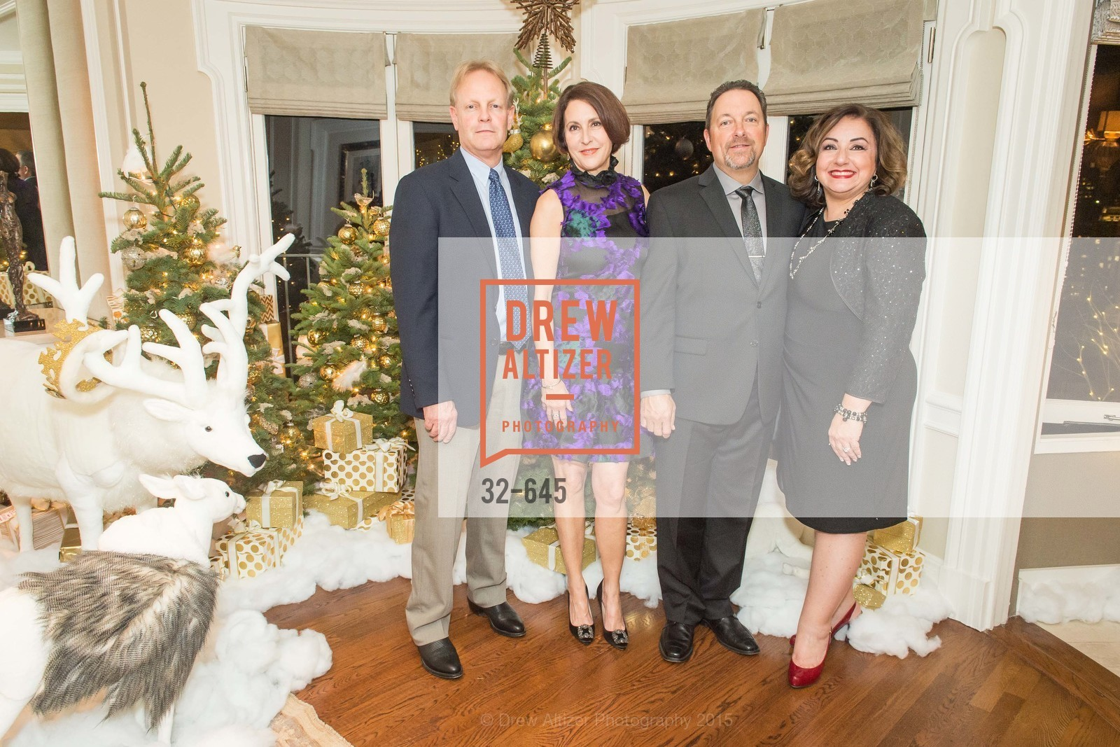David Shuh, Susan Atherton, Donny Atherton, Tracy Atherton, Atherton Holiday Party, Private Residence, December 12th, 2015,Drew Altizer, Drew Altizer Photography, full-service agency, private events, San Francisco photographer, photographer california