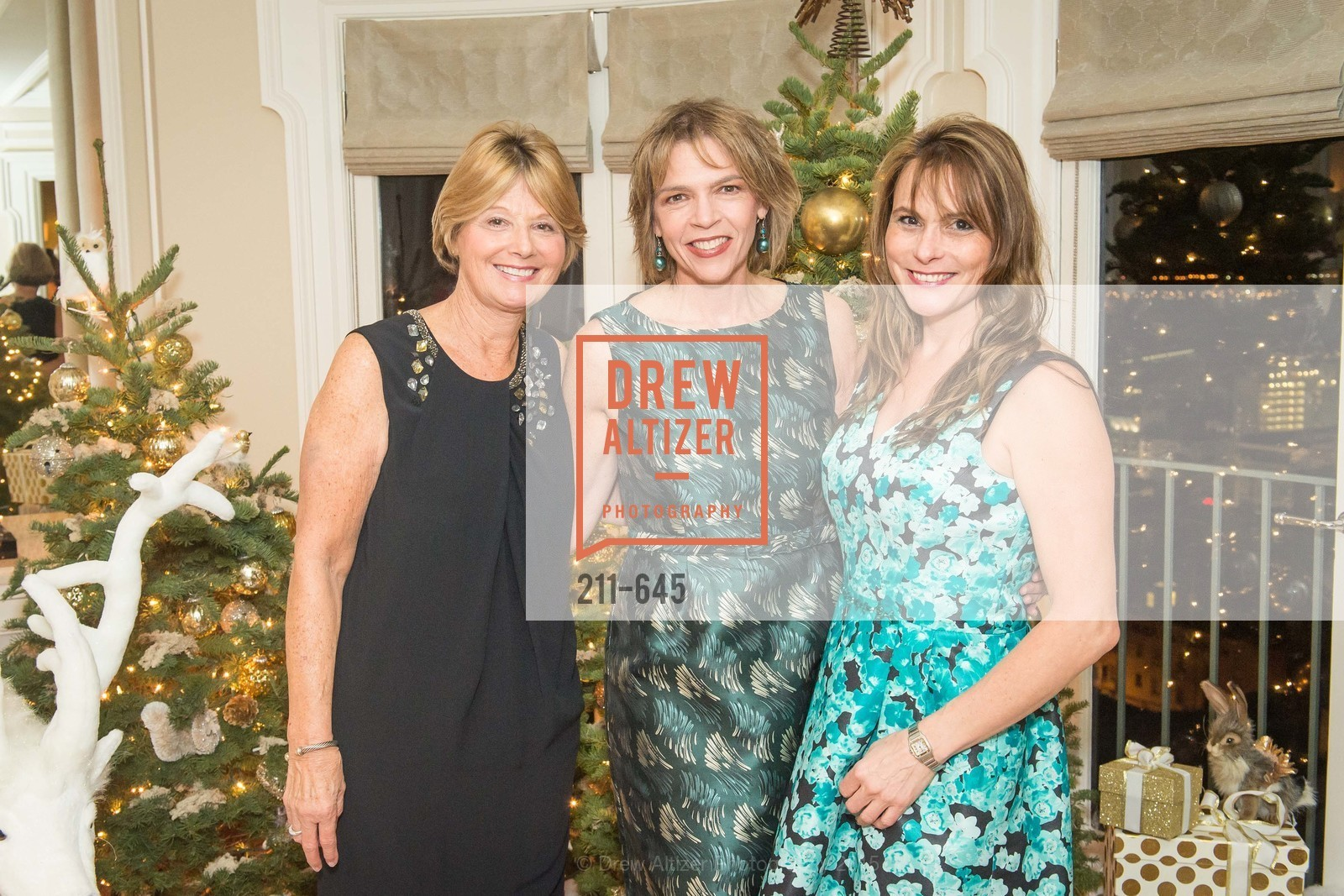Debbie Rivard, Beth Schnitzer, Teresa Rodriguez, Atherton Holiday Party, Private Residence, December 12th, 2015,Drew Altizer, Drew Altizer Photography, full-service event agency, private events, San Francisco photographer, photographer California