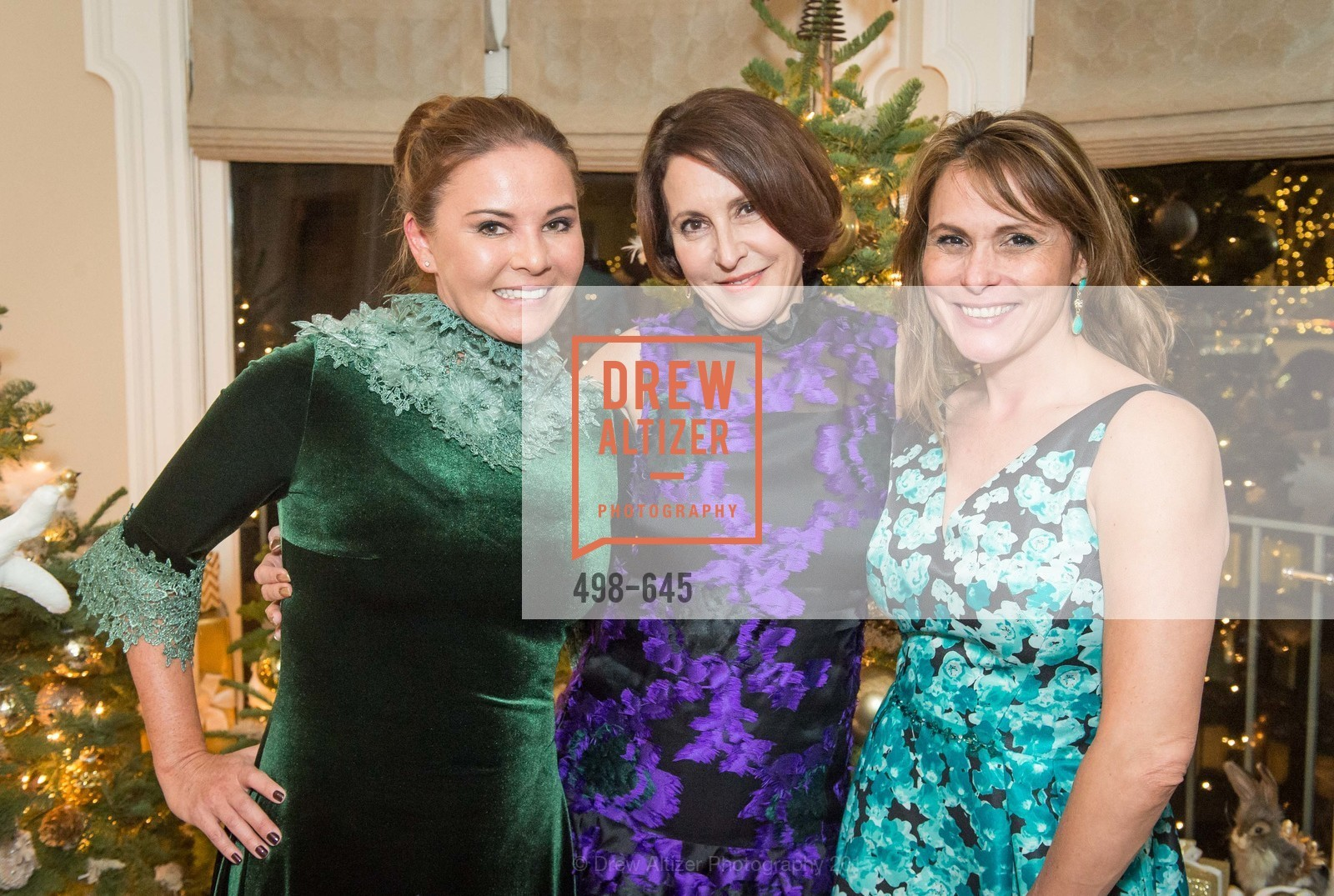 Judy Davies, Susan Atherton, Teresa Rodriguez, Atherton Holiday Party, Private Residence, December 12th, 2015,Drew Altizer, Drew Altizer Photography, full-service agency, private events, San Francisco photographer, photographer california
