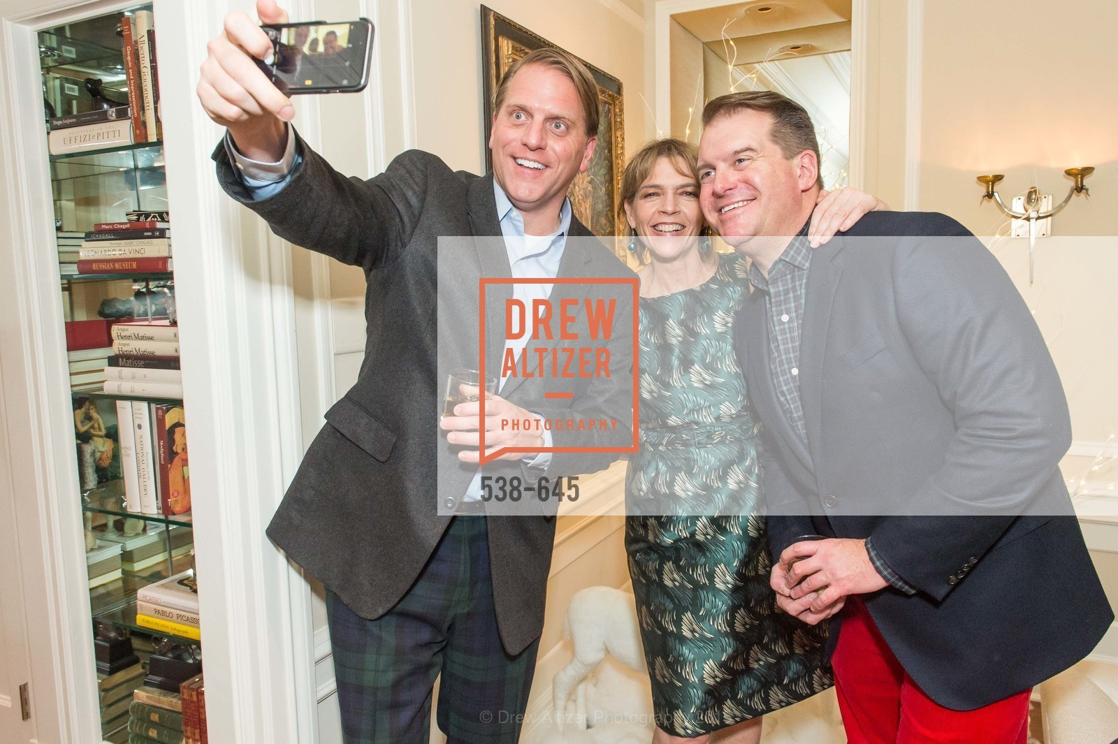 Scott Miller, Beth Schnitzer, Doug Piper, Atherton Holiday Party, Private Residence, December 12th, 2015,Drew Altizer, Drew Altizer Photography, full-service agency, private events, San Francisco photographer, photographer california