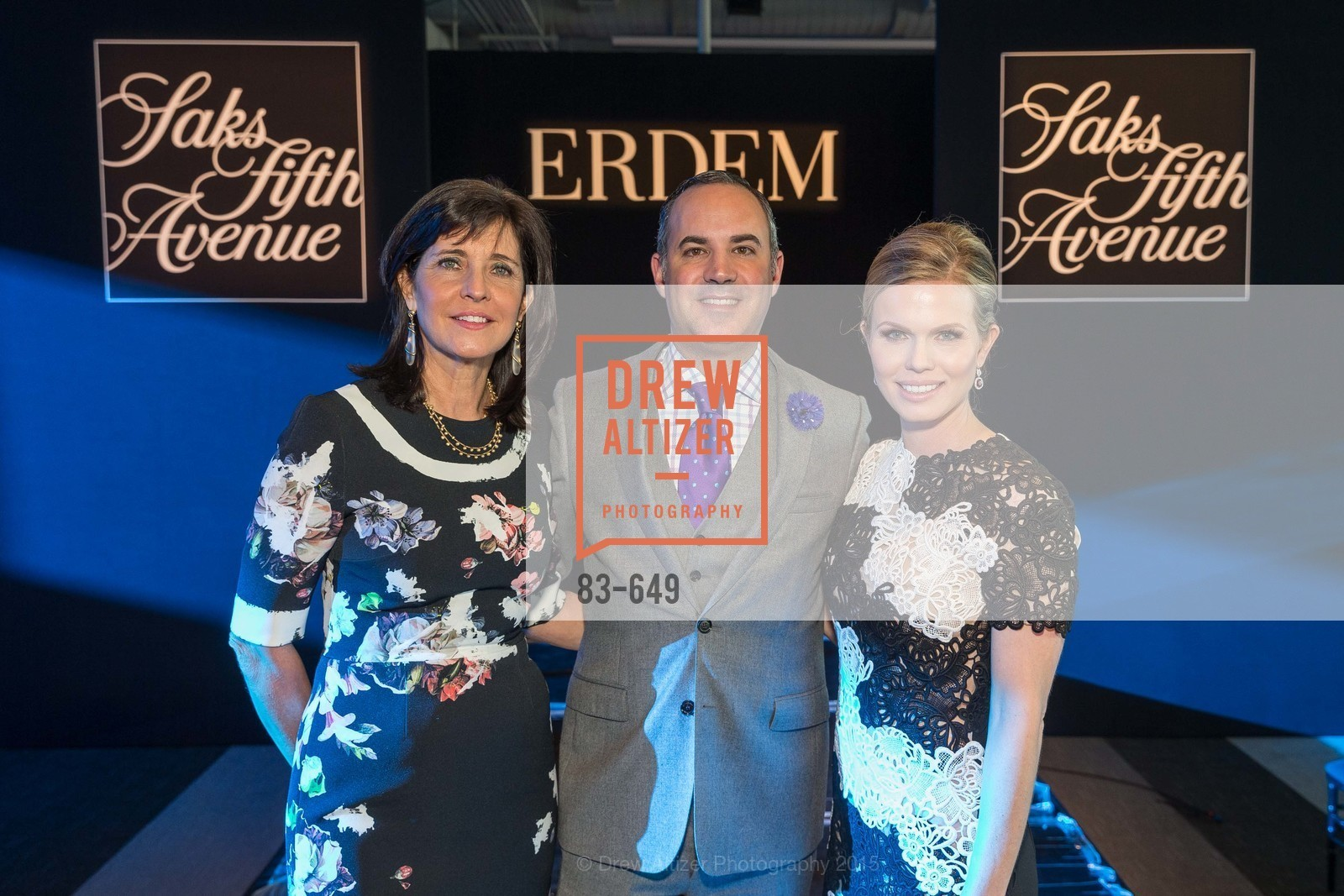 Anne Marie Massocca, Robert Arnold-Kraft, Claire Fluhr, Fashion Forward: An Evening with Erdem presented by SF Opera Guild and Saks Fifth Avenue, Pier 27. Pier 27, The Embarcadero, March 25th, 2015,Drew Altizer, Drew Altizer Photography, full-service event agency, private events, San Francisco photographer, photographer California