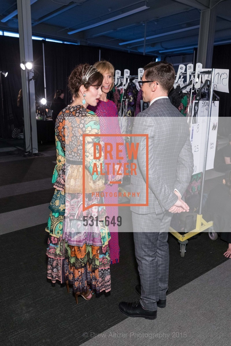 Stephanie Marver, Nancy Kukacka, Erdem Moralioglu, Fashion Forward: An Evening with Erdem presented by SF Opera Guild and Saks Fifth Avenue, Pier 27. Pier 27, The Embarcadero, March 25th, 2015,Drew Altizer, Drew Altizer Photography, full-service agency, private events, San Francisco photographer, photographer california