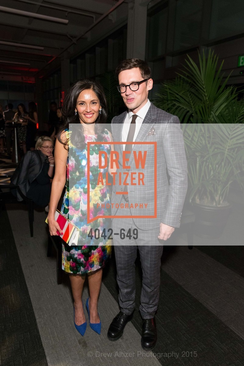 Komal Shah, Erdem Moralioglu, Fashion Forward: An Evening with Erdem presented by SF Opera Guild and Saks Fifth Avenue, Pier 27. Pier 27, The Embarcadero, March 25th, 2015,Drew Altizer, Drew Altizer Photography, full-service agency, private events, San Francisco photographer, photographer california