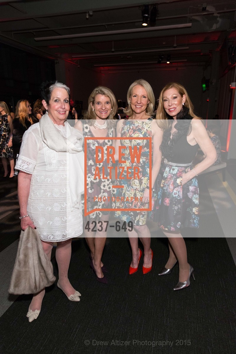 Karen Kubin, Amy Sanford, Ann Girard, Teresa Medearis, Fashion Forward: An Evening with Erdem presented by SF Opera Guild and Saks Fifth Avenue, Pier 27. Pier 27, The Embarcadero, March 25th, 2015,Drew Altizer, Drew Altizer Photography, full-service agency, private events, San Francisco photographer, photographer california