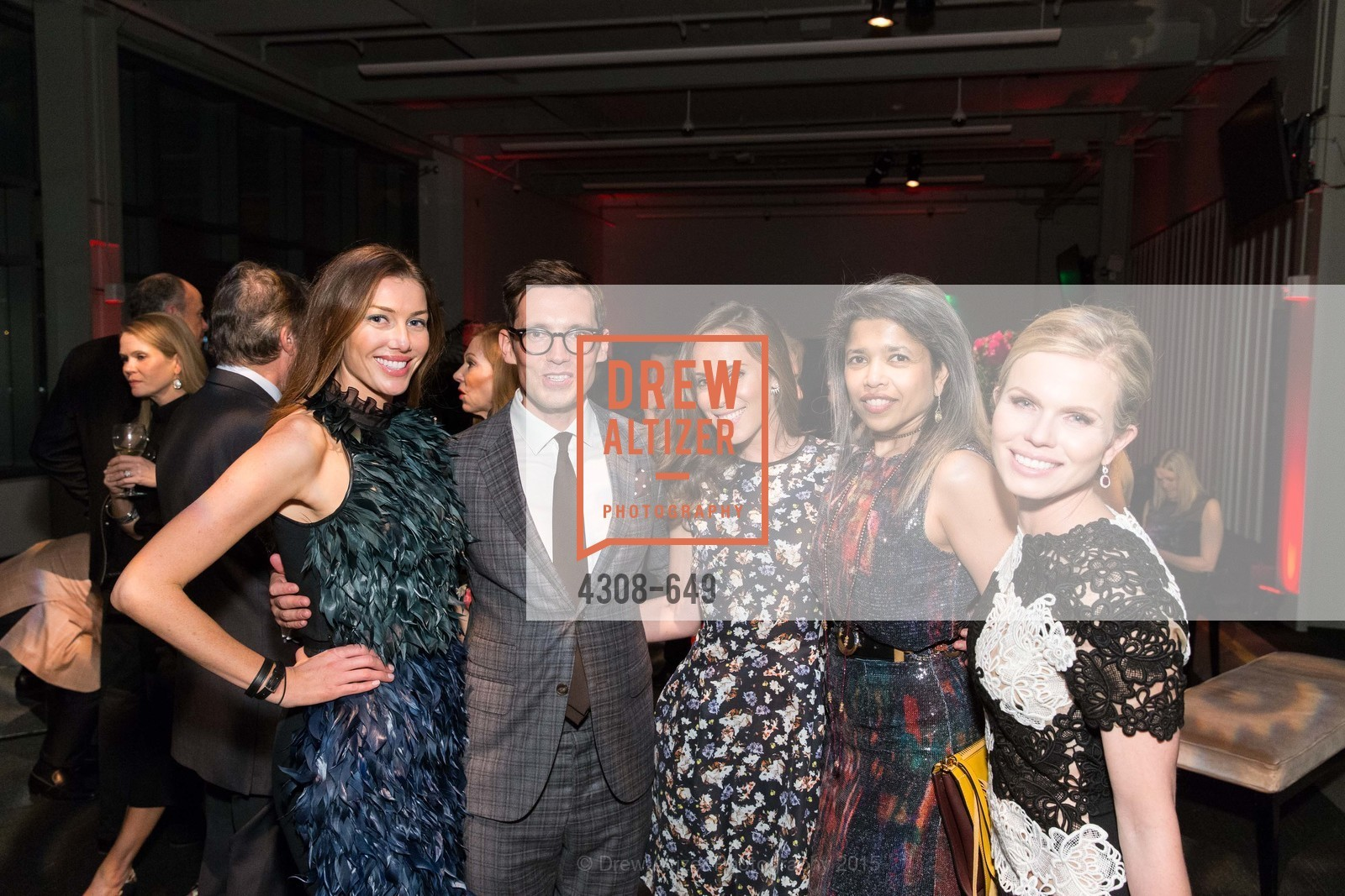 Sarah Somberg, Erdem Moralioglu, Cierra Sherwin, Deepa Pakianathan, Claire Fluhr, Fashion Forward: An Evening with Erdem presented by SF Opera Guild and Saks Fifth Avenue, Pier 27. Pier 27, The Embarcadero, March 25th, 2015