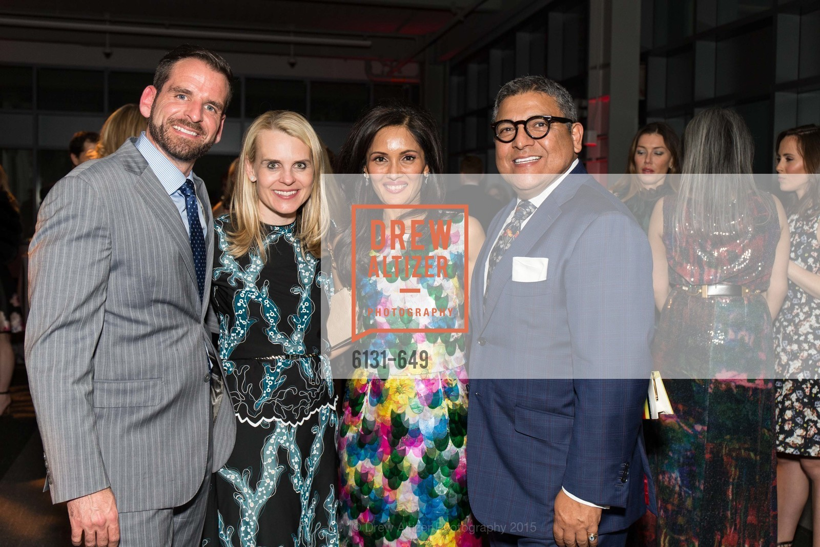 Ryan Williams, Jane Mudge, Komal Shah, Riccardo Benavides, Fashion Forward: An Evening with Erdem presented by SF Opera Guild and Saks Fifth Avenue, Pier 27. Pier 27, The Embarcadero, March 25th, 2015,Drew Altizer, Drew Altizer Photography, full-service agency, private events, San Francisco photographer, photographer california