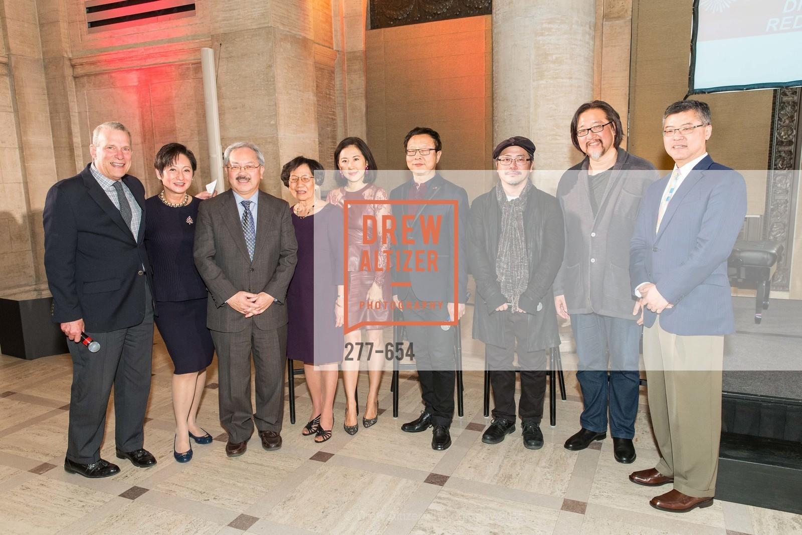 David Gockley, Doreen Woo Ho, Ed Lee, Pearl Bergad, Gorretti Lo Lui, Bright Sheng, Tim Yip, Stan Lai, Jay Xu, San Francisco Opera Celebrates