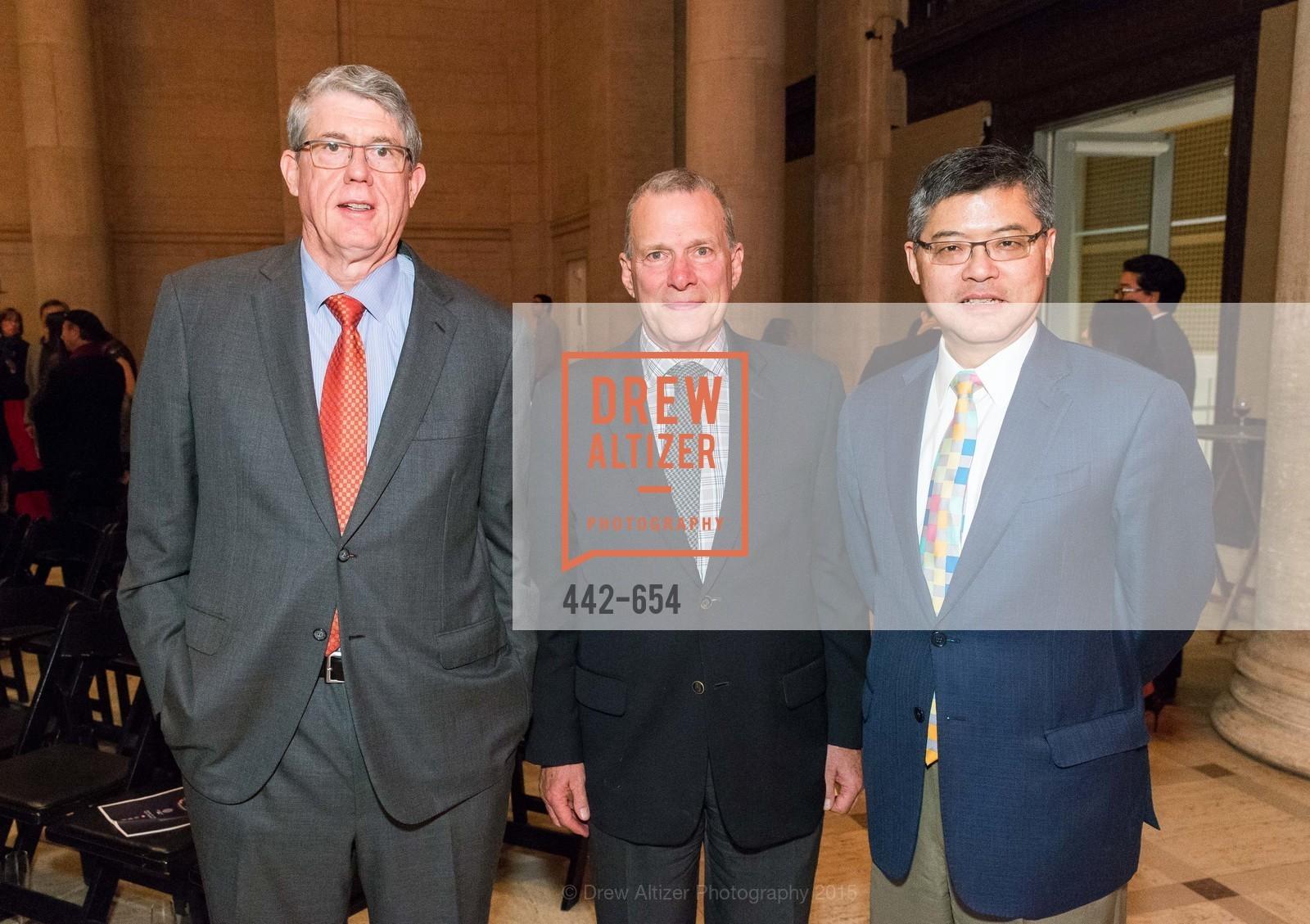 Tim Kahn, David Gockley, Jay Xu, San Francisco Opera Celebrates