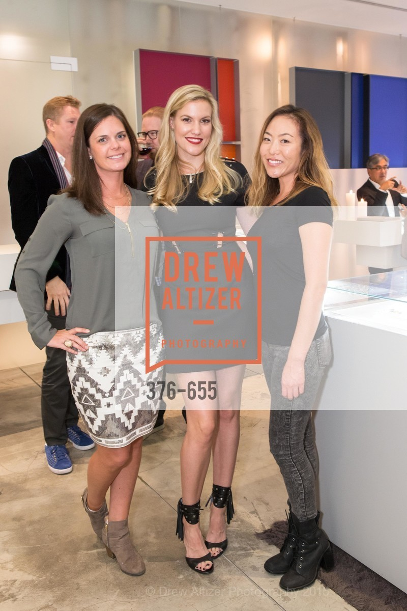 Stephanie Lamoureaux, Cara Cutter, Diana Rhie, Silver Belles Soirée at Stuart Moore, Stuart Moore Gallery of Designer Jewelry. 1898 Union Street, December 17th, 2015,Drew Altizer, Drew Altizer Photography, full-service agency, private events, San Francisco photographer, photographer california