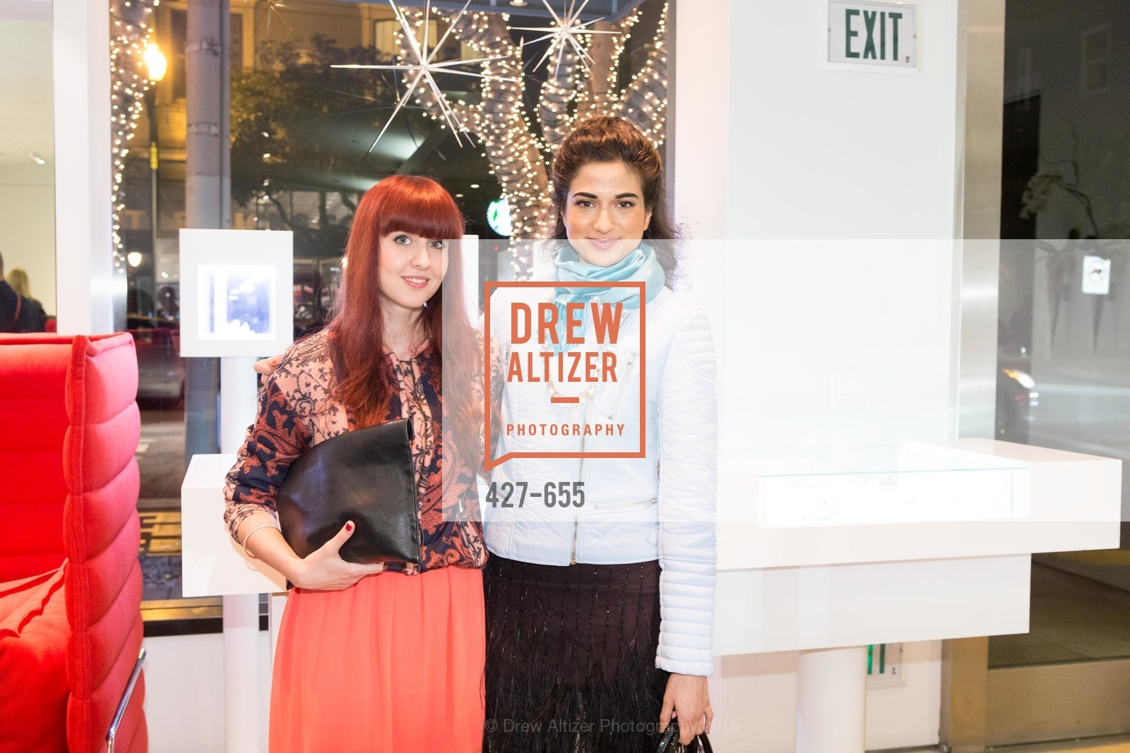 Juliana Stoy, Asha Raval, Silver Belles Soirée at Stuart Moore, Stuart Moore Gallery of Designer Jewelry. 1898 Union Street, December 17th, 2015,Drew Altizer, Drew Altizer Photography, full-service agency, private events, San Francisco photographer, photographer california
