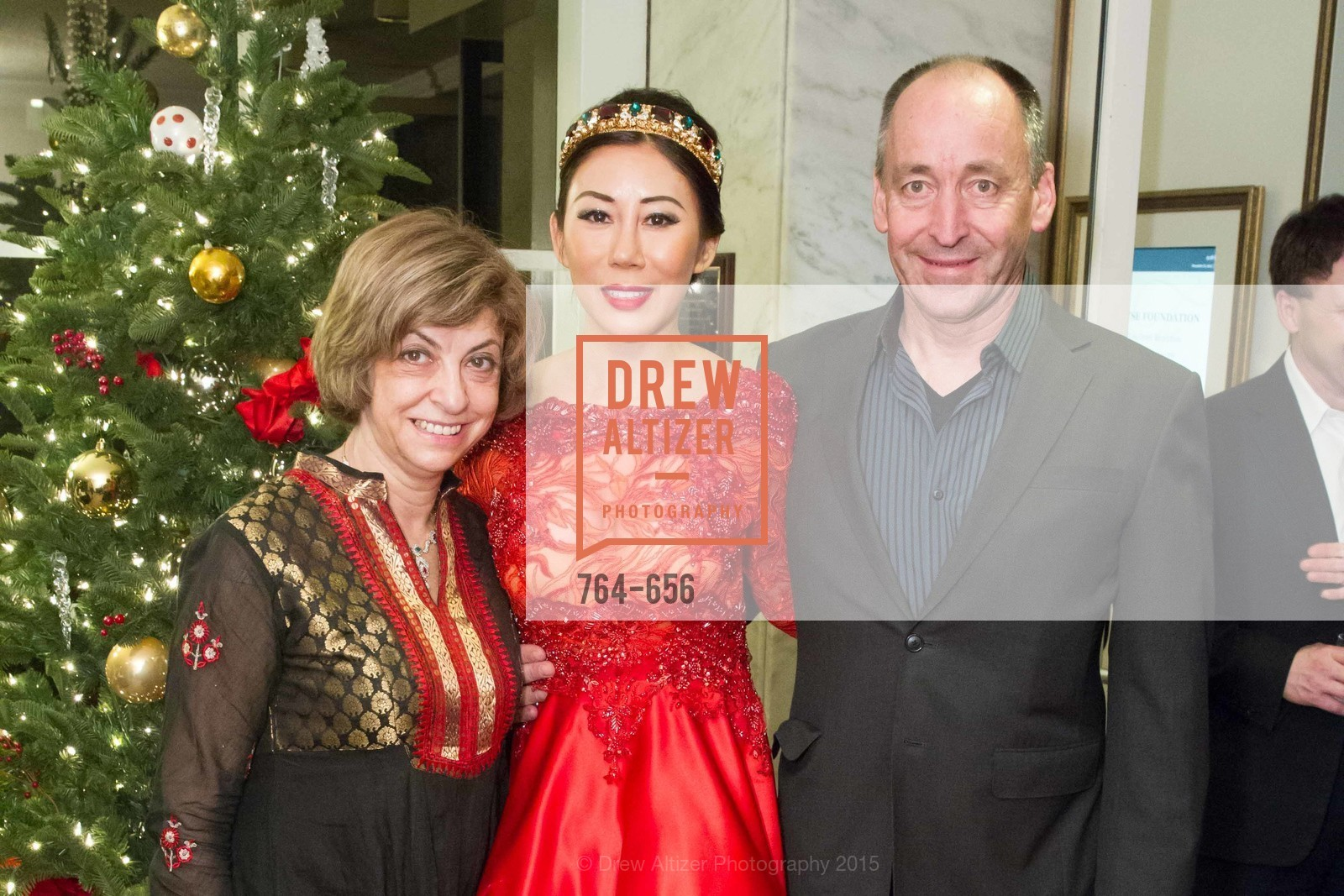 Ludmila Eggleton, Rumiko McCarthy, John Kirkpatrick, Joyful Holiday Toy Drive and Rumiko Birthday Bash, Fairmont, Pavilion Room, December 16th, 2015,Drew Altizer, Drew Altizer Photography, full-service agency, private events, San Francisco photographer, photographer california