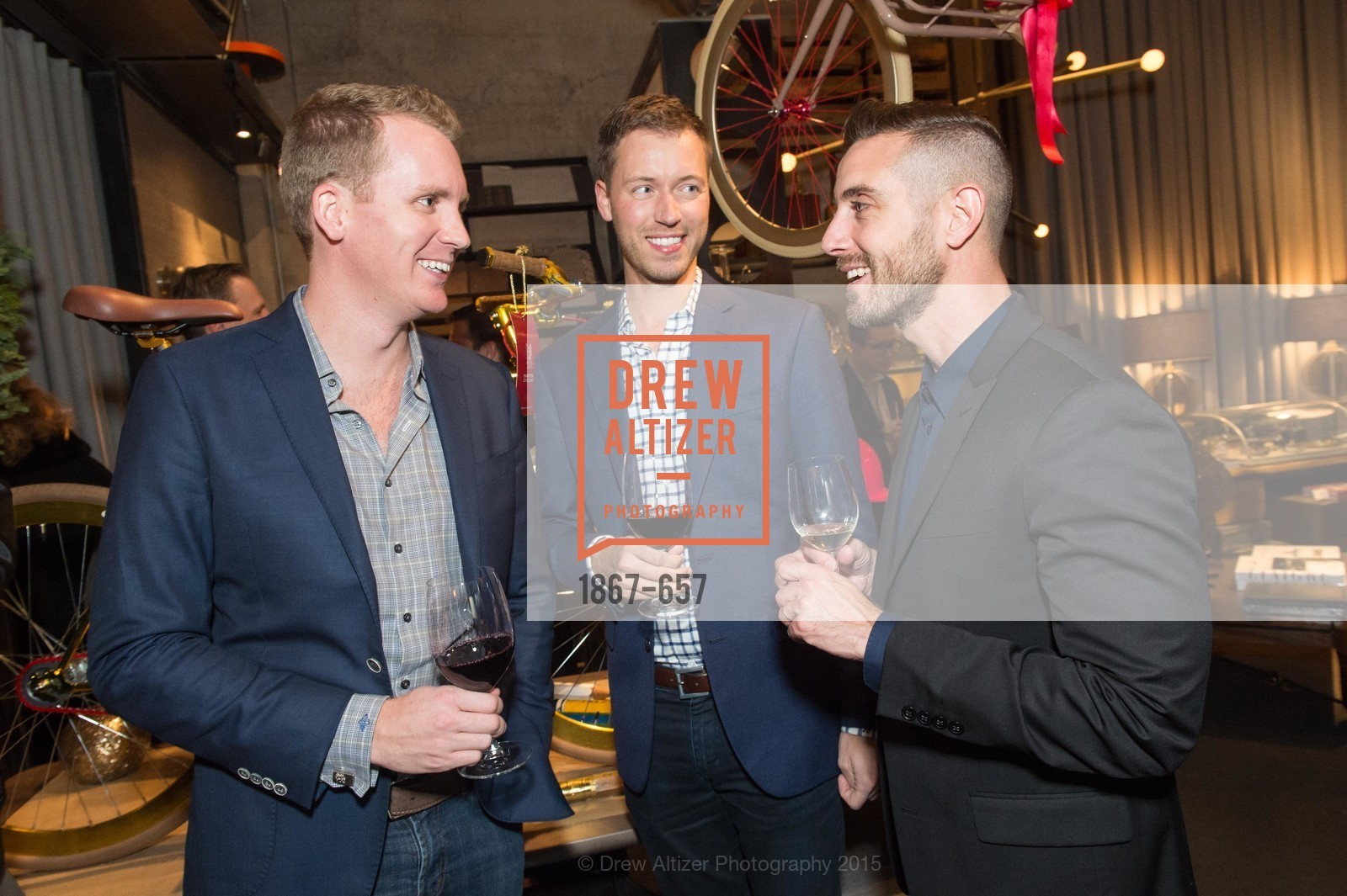 Andrew Greenwall, Paul Selveson, Michael Gonsalves, DDG Holiday Party, Jay Jeffers. 1035 Post St, December 16th, 2015,Drew Altizer, Drew Altizer Photography, full-service agency, private events, San Francisco photographer, photographer california