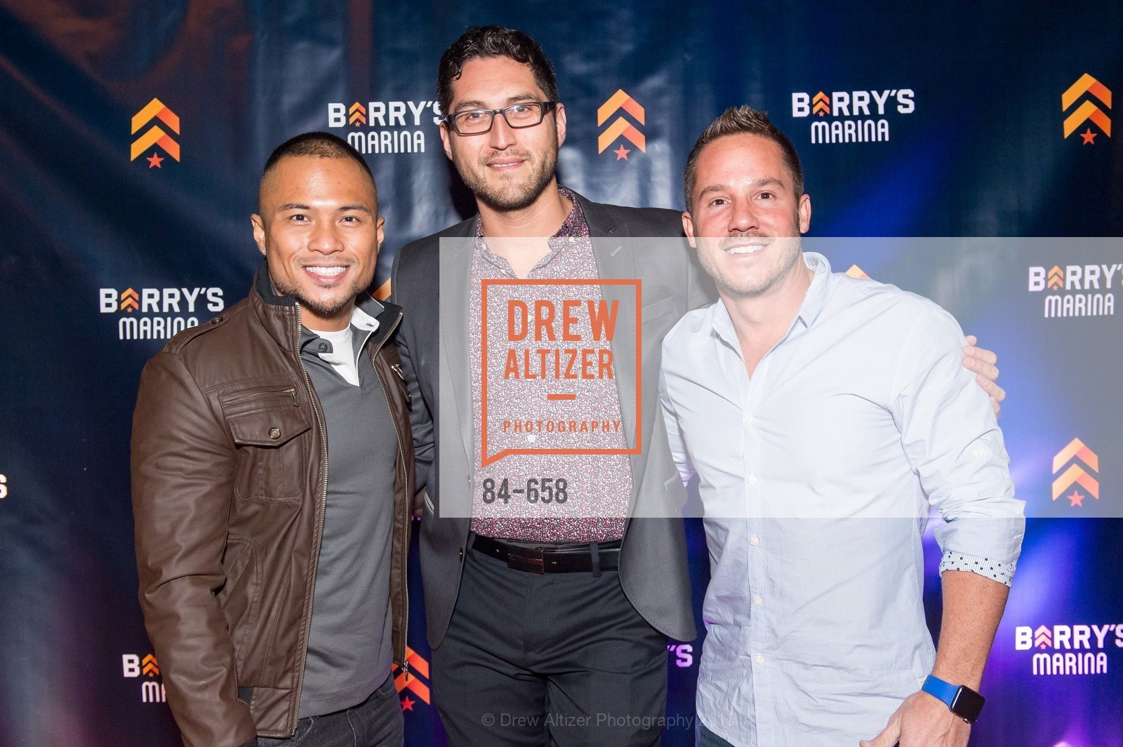 Gerard Urbano, Raul Gutierrez, Jarrod Cornehl, Barry's Marina Opening, Barry's. 2246 Lombard Street, December 17th, 2015,Drew Altizer, Drew Altizer Photography, full-service agency, private events, San Francisco photographer, photographer california