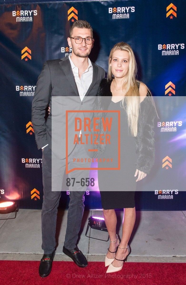 Tanner Smith, Natazia Stolzberg, Barry's Marina Opening, Barry's. 2246 Lombard Street, December 17th, 2015,Drew Altizer, Drew Altizer Photography, full-service event agency, private events, San Francisco photographer, photographer California