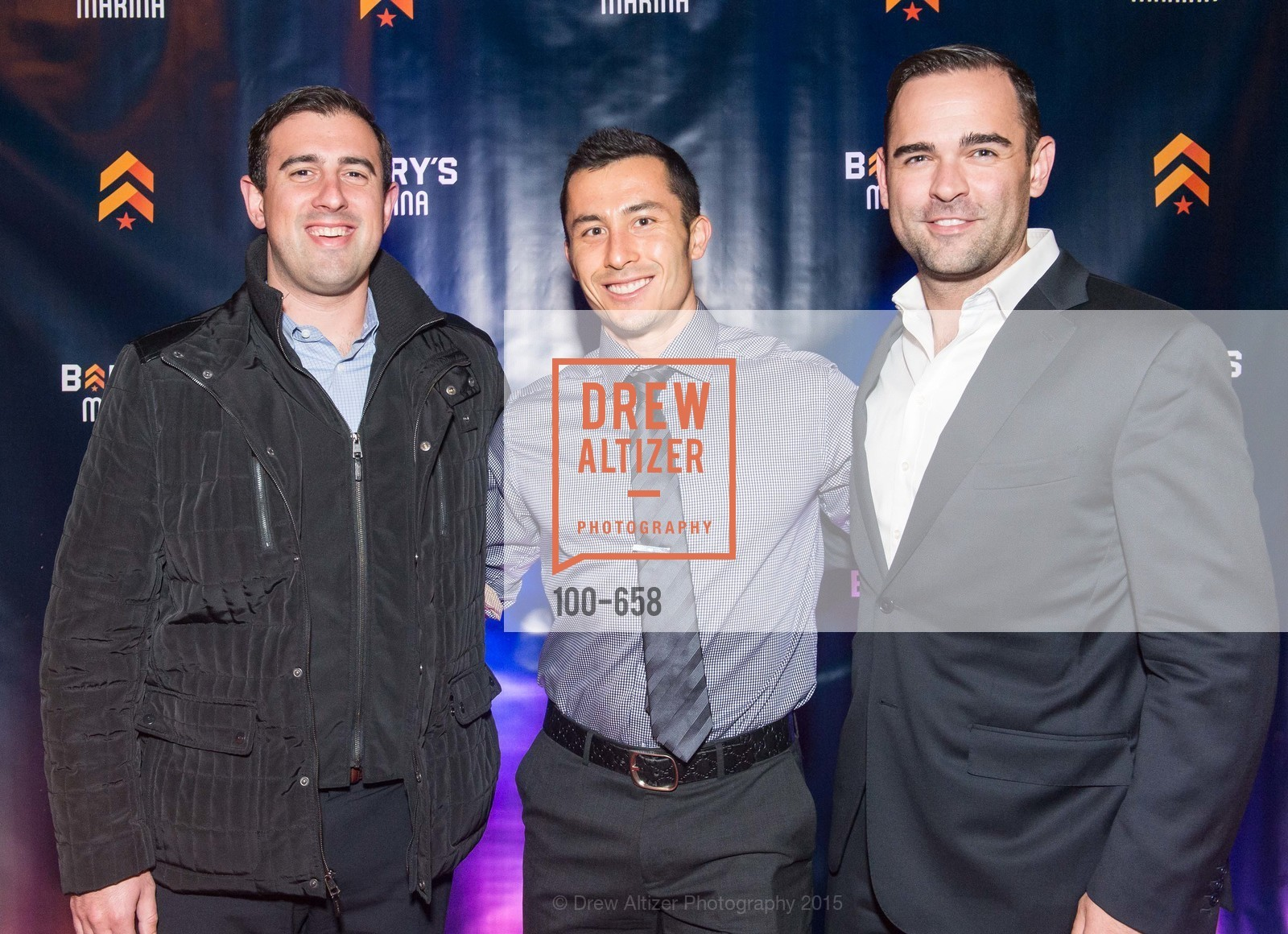 Josh Mogabgab, Jeff Langewisch, Shane Neal, Barry's Marina Opening, Barry's. 2246 Lombard Street, December 17th, 2015,Drew Altizer, Drew Altizer Photography, full-service agency, private events, San Francisco photographer, photographer california