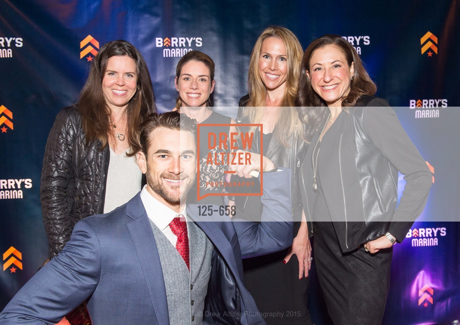 Beth Gray, Liz Farrell, Alex Lyon, Victoria Dade, Thomas Stracke, Barry's Marina Opening, Barry's. 2246 Lombard Street, December 17th, 2015,Drew Altizer, Drew Altizer Photography, full-service agency, private events, San Francisco photographer, photographer california