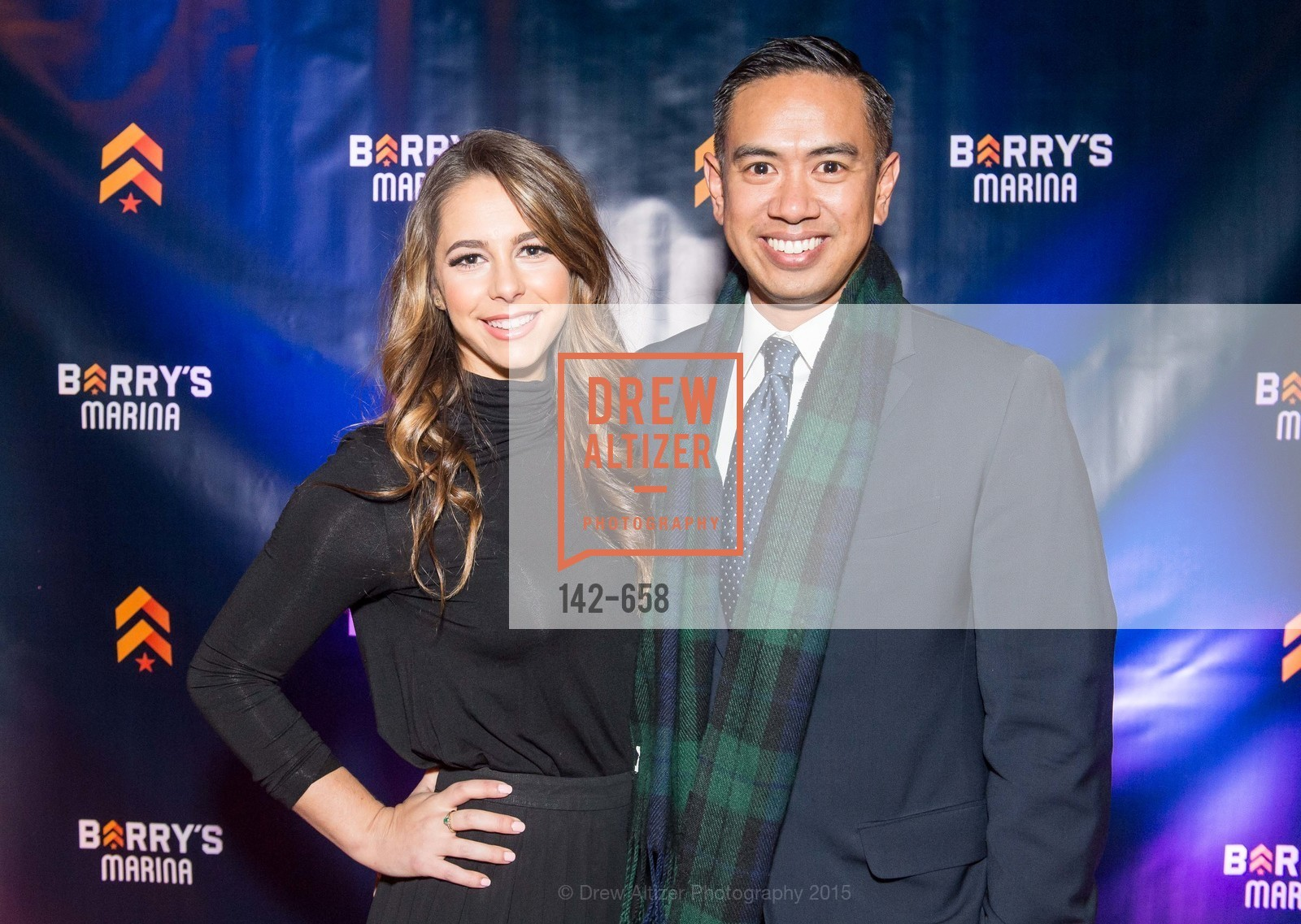 Jessica Bleeker, Justin Roja, Barry's Marina Opening, Barry's. 2246 Lombard Street, December 17th, 2015,Drew Altizer, Drew Altizer Photography, full-service agency, private events, San Francisco photographer, photographer california